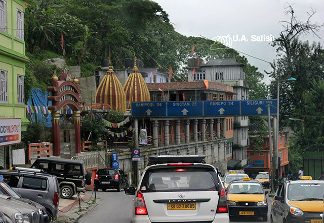 Gangtok; Sikkim; India; uasatish; street; cars;