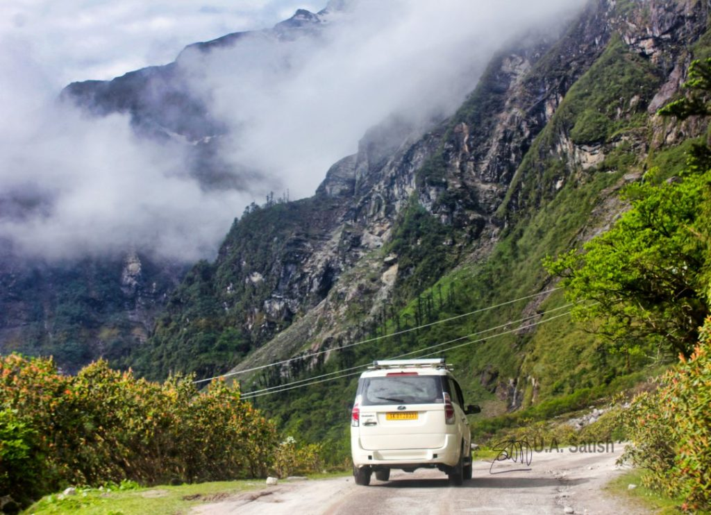 Cloud Covered Mountain; Sikkim; India; mountain; clouds; uasatish;
