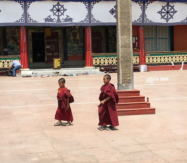 Gangtok; Sikkim; India; uasatish; young monks; monastery;