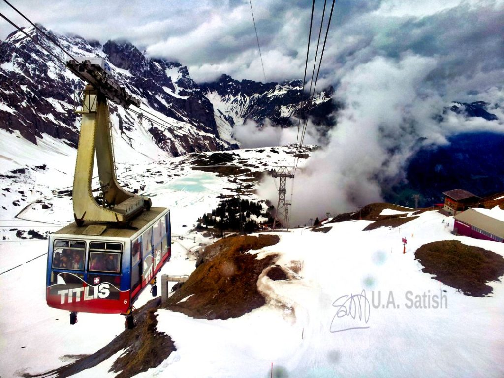 Cable Car in Mount Titlis; Switzerland; uasatish;