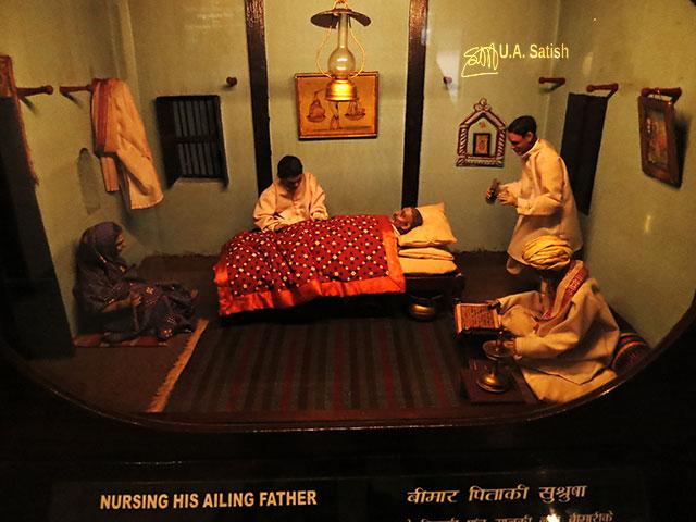 Mani Bhavan; Mumbai; India; Gamdevi; uasatish;; mini figures;