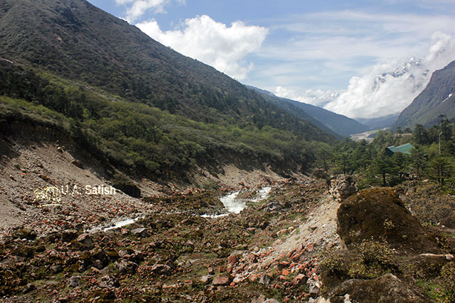 Sikkim; India; river; rocks; mountains; sky; clouds; rocks; uasatish;