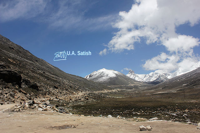 Sikkim; India; Zero Point; mountains; sky; clouds; uasatish;