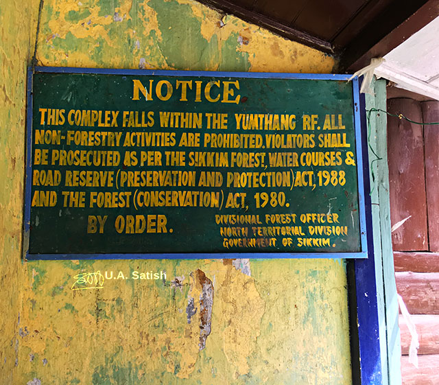 Yumthang, Sikkim, India, Sign Board, uasatish,