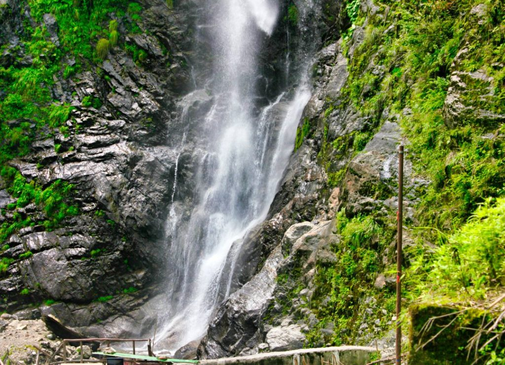 Flow of Bhewma Waterfalls; Sikkim; by Road to Lachung from Gangtok; uasatish;
