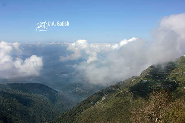 Sikkim; India; mountains; clouds; sky; uasatish;