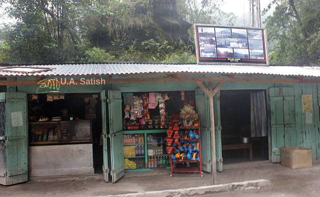 Sikkim; North Sikkim; India; uasatish; roadside stall; building;