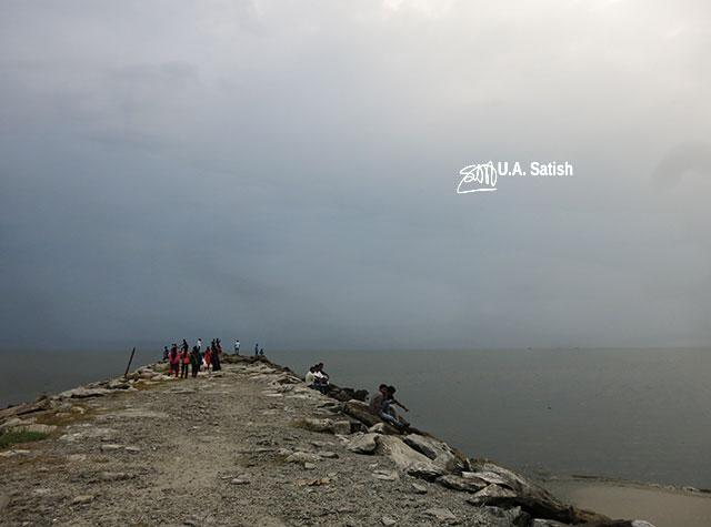 Kappad Beach; Calicut; pulimuttu; sky; sea; India; Kozhikode; uasatish;; breakwater;