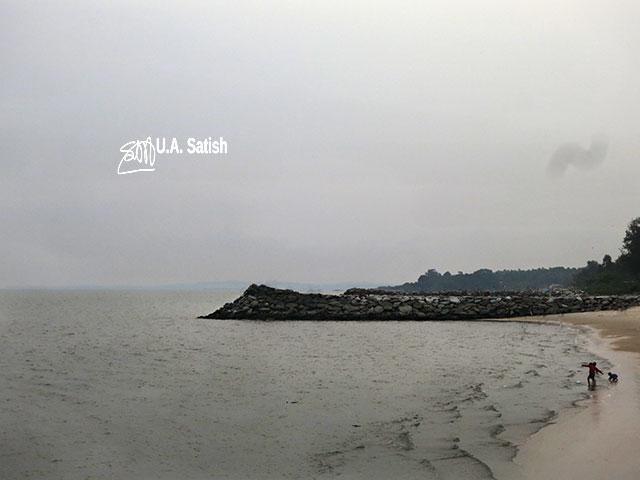 India; beach; Kerala; Kappad Beach; Calicut; Pulimuttu; sea; sky; uasatish;
