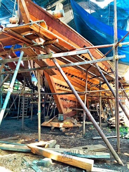 Half-Built Boat; Uru Boat; Beypore; Kerala; uasatish; Uru;