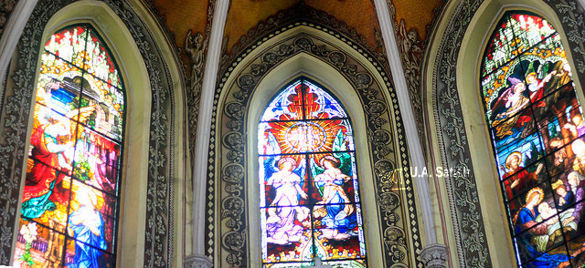 Cathedral of the Holy Name; stained glass windows; Colaba; Mumbai; India; church; travel; architecture; uasatish;