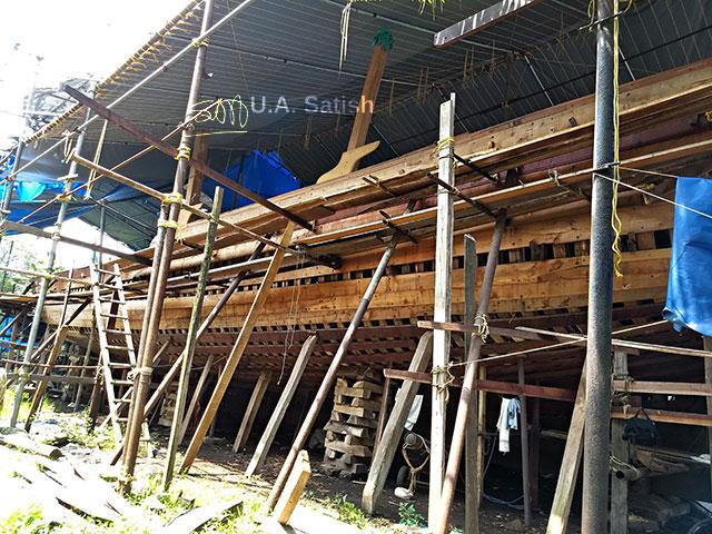 Uru; boat; dhow; Beypore; Kozhikode; Calicut; Kerala; India; uasatish;