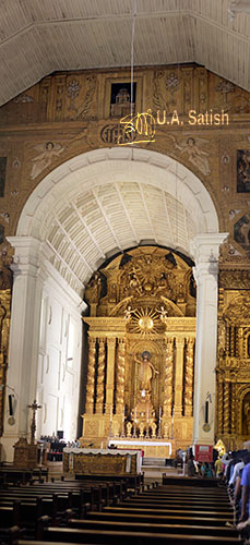 Bom Jesus Basilica; Goa; India; UNESCO Heritage Sire; church; Old Goa; Velha Goa; uasatish; main altar;