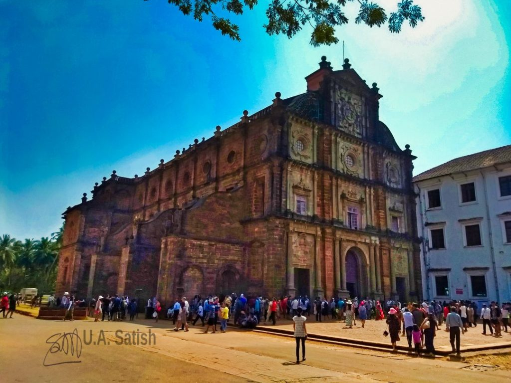 Basilica of Bom Jesus; Old Goa; church; uasatish;