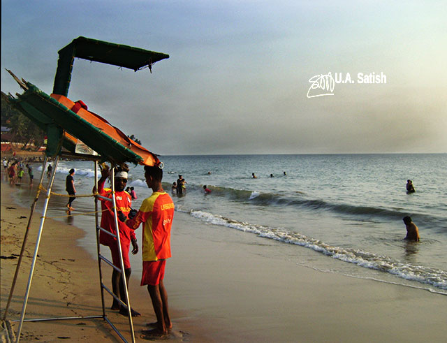 Bogmalo Beach; Goa; Bogmalo; India; sea; sand; sky; uasatish; life guards; beach;