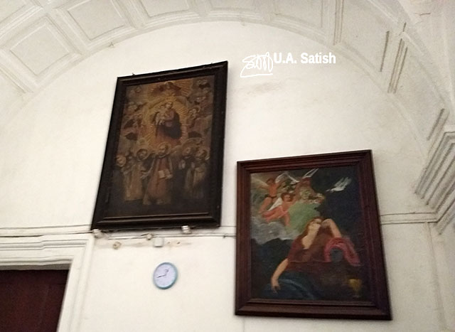 Basilica of Bom Jesus; Goa; church; Old Goa; Velha Goa; India; paintings; wall; uasatish;