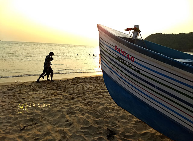 Bogmalo Beach; Goa; Bogmalo; India; sea; sand; sky; uasatish; boat; silhouette; beach;