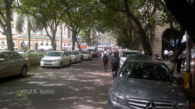 Bombay; Mumbai; street; cars; buildings; trees; uasatish;