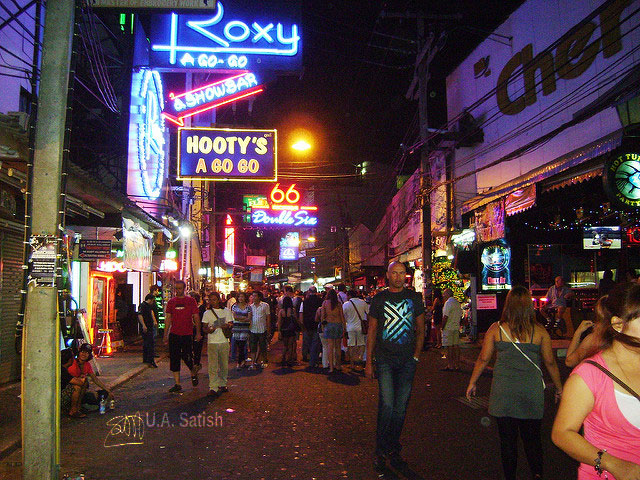 Walking Street; Pattaya; Thailand; street; uasatish;