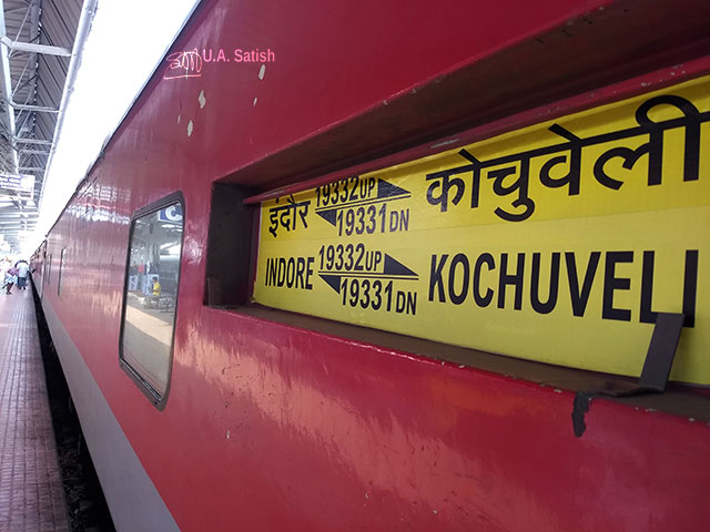 Train Travel; Mumbai to Kannur; Indore Kochuveli Express; train; uasatish;