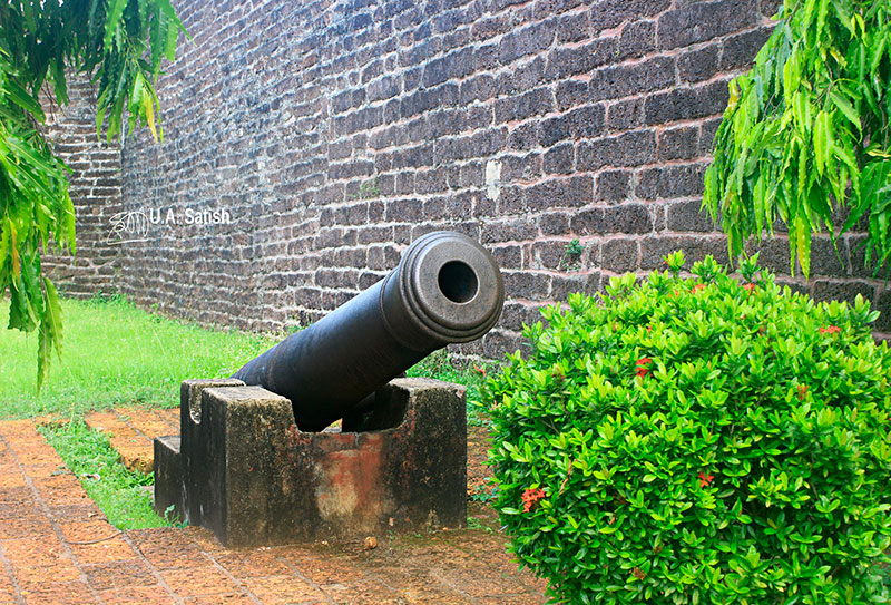Kannur Fort; Fort St Angelos; Kannur; travel; Kerala; uasatish; ancient gun;