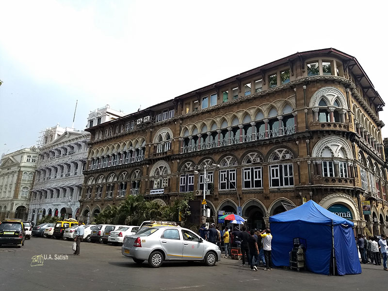 walking tour: South Mumbai; heritage district; Mumbai; heritage buildings; India; uasatish; Elphinstone Building;