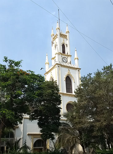 walking tour: South Mumbai; heritage district; Mumbai; heritage buildings; India; uasatish; St Thomas Cathedral; Veer Nariman Road;