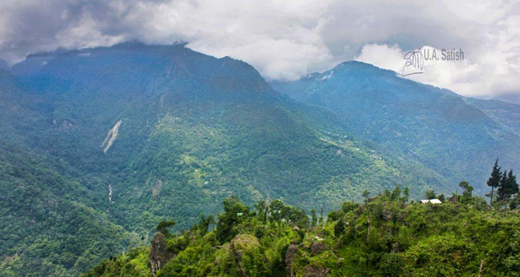Misty Mountain in Lungma Dara; Sikkim; UASATISH; lACHUNG;