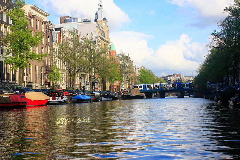 Amstel River; Amsterdam; Netherlands; rivers; uasatish;