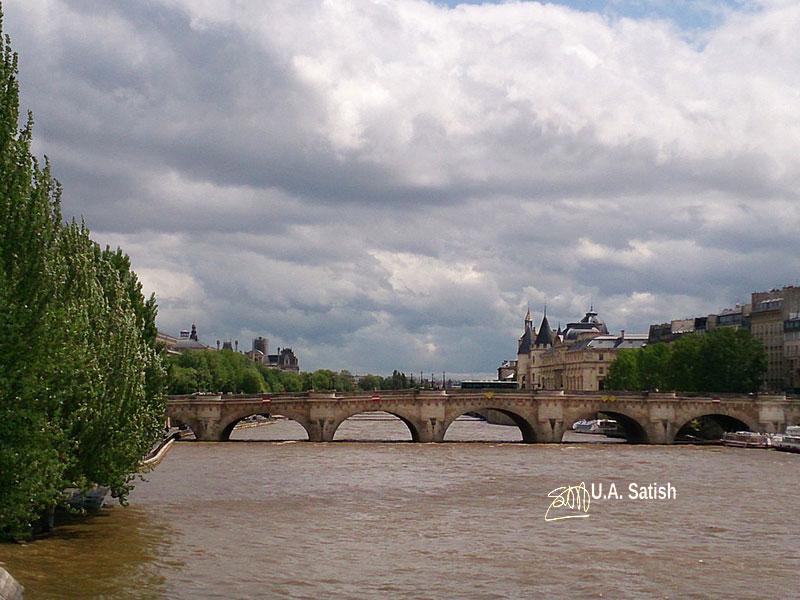 River Seine; bridge; Paris; France; river; uasatish;