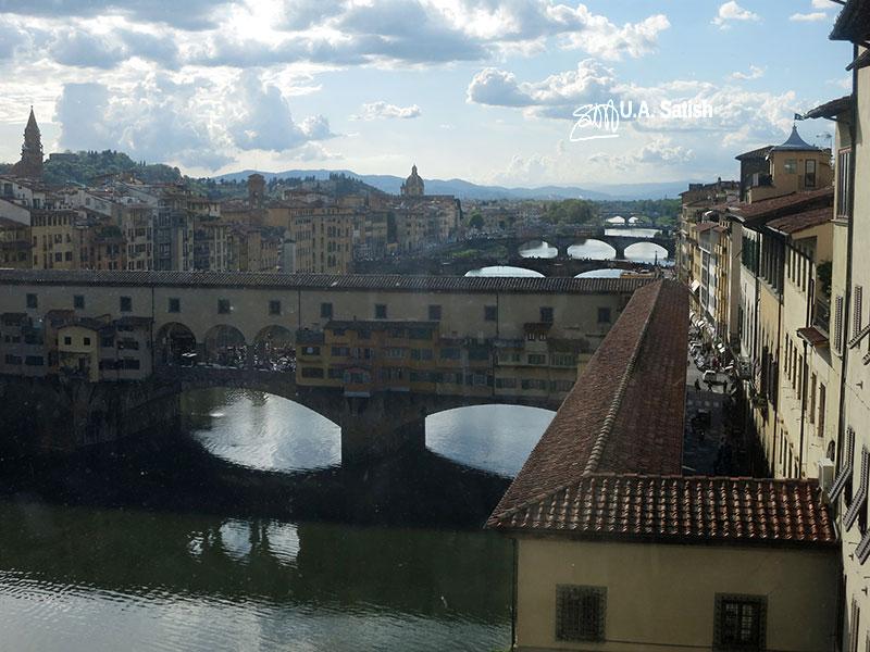 River Arno; river; Florence; Italy; bridges; uasatish;