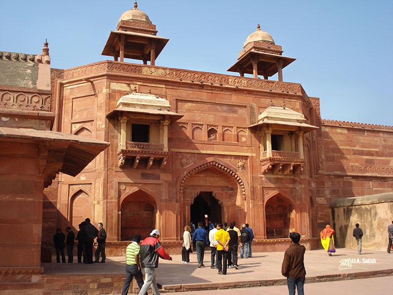 Fatehpur Sikri' Uttar Pradesh' Mughal Architecture; Jodha Bai's Palace