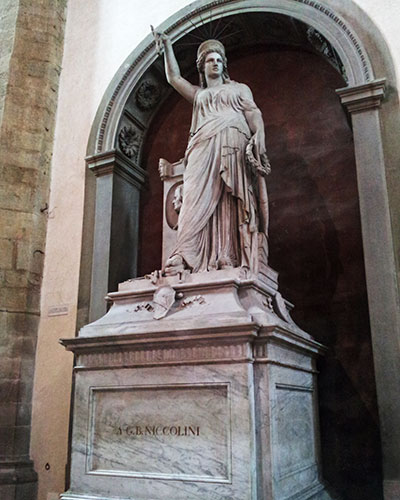 Monument of Playwright Giovanni Niccolini; Santa Croce Basilica; Florence; Italy; uasatish;