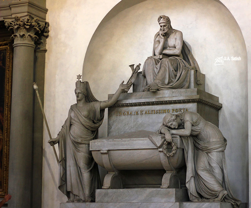 Santa Croce Basilica; Florence; Italy; Dante Alighieri; tomb; uasatish;
