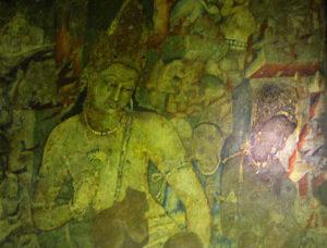 Ajanta Caves; India; Cave no 1; Bodhisattva-Padmapani; Maharashtra; uasatish; painting;