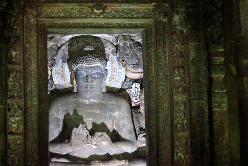 Ajanta Caves; cave no 1; Maharashtra; India; uasatish; Buddha; teaching mudra;