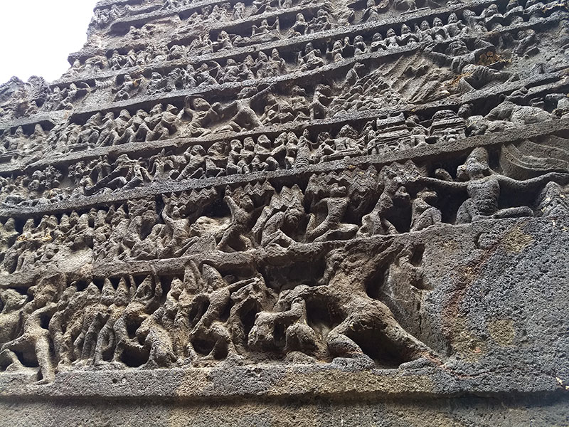 Kailas Temple; Ellora Caves; cave no. 16; rock cut caves; India; Maharashtra; temple; UNESCO heritage site; uasatish; Ramayana;