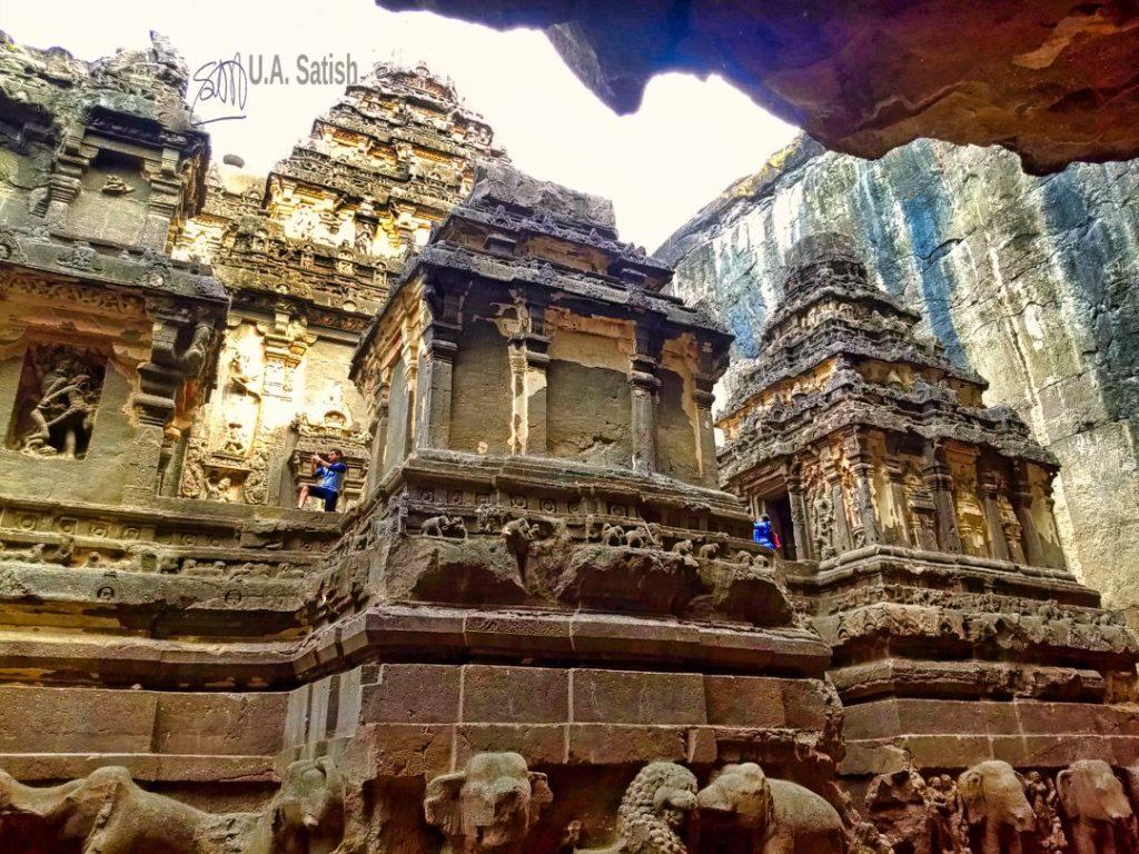 Kailasa Temple; Ellora Caves; Maharashtra; rock cut caves; uasatish;
