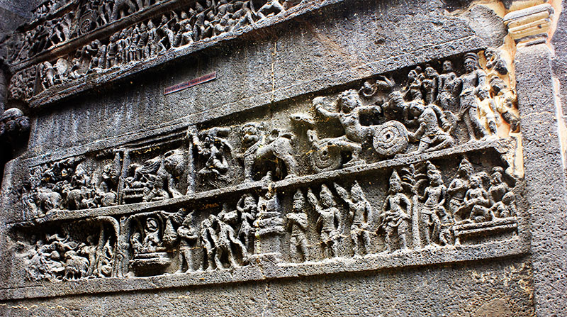 Kailas Temple; Ellora Caves; cave no. 16; rock cut caves; India; Maharashtra; temple; UNESCO heritage site; uasatish; Mahabharatham;