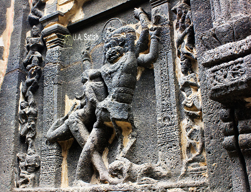 Kailas Temple; Ellora Caves; cave no. 16; rock cut caves; India; Maharashtra; temple; UNESCO heritage site; uasatish; Narasimha;