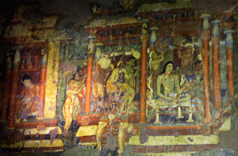 Ajanta Caves; India; painting; Maharashtra; Bodhisattva-Padmapani; uasatish; cave no 1;