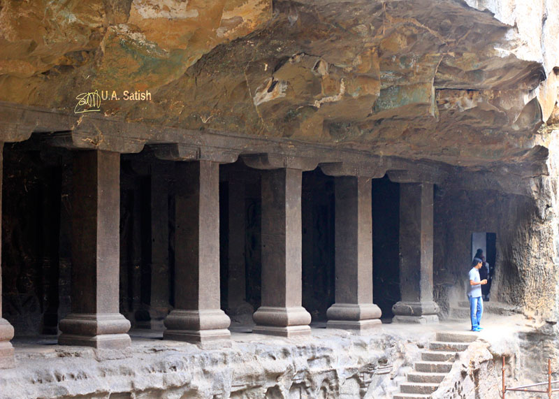Kailas Temple; Ellora Caves; cave no. 16; rock cut caves; India; Maharashtra; temple; UNESCO heritage site; uasatish; unsupported rock ceiling;