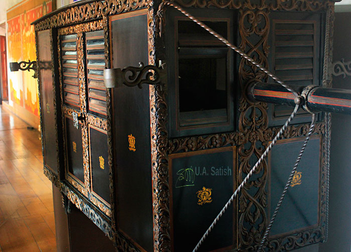 Mattancherry Palace; museum; Kochi; Kerala; India; royal palanquin;