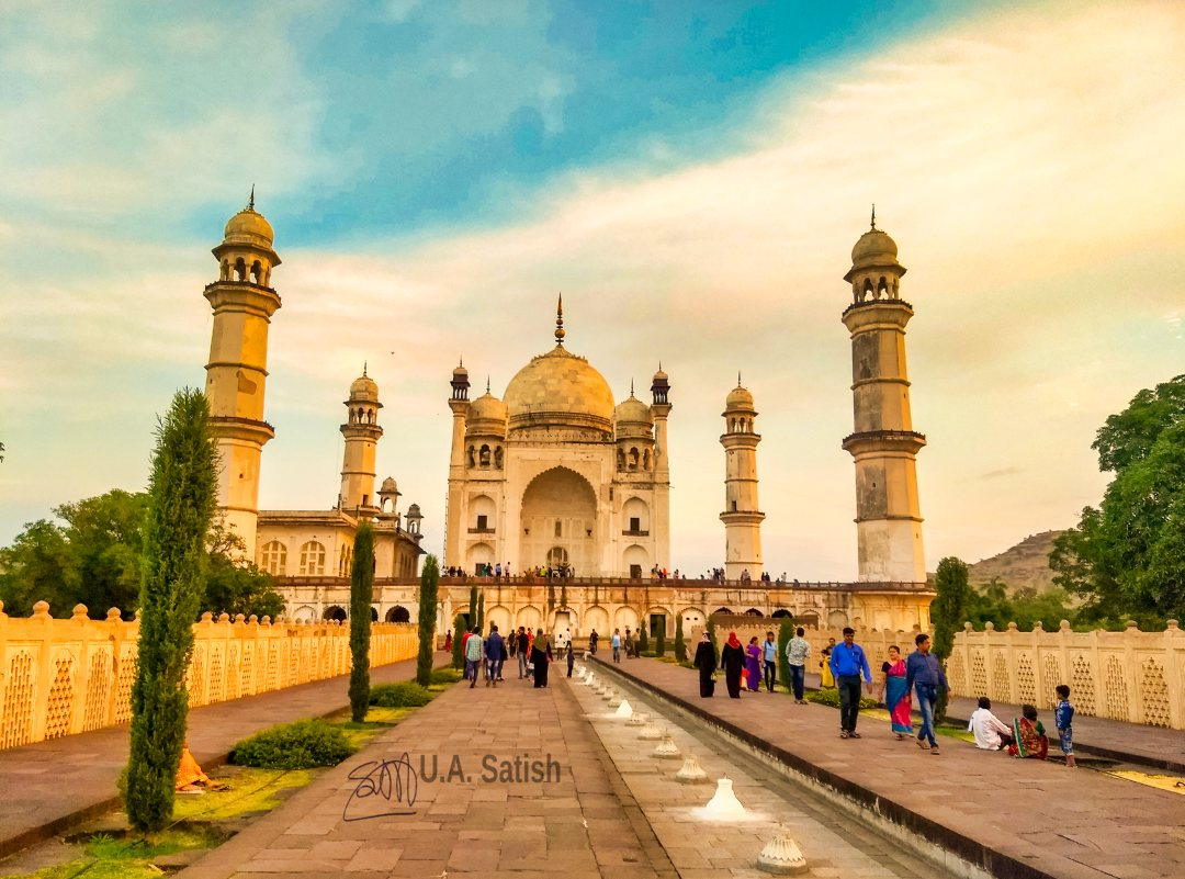 Bibi ka Maqbara; Aurangabad; Maharashtra; uasatish; mausoleum;