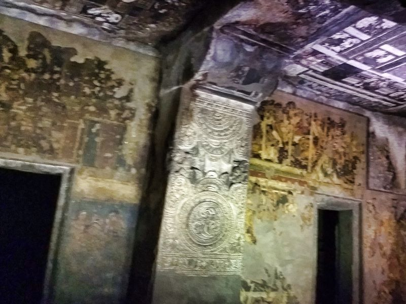 Ajanta Caves: Aurangabad; cave paintings; uasatish; India;