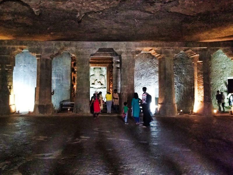 Ajanta Caves; Cave no. 2; Aurangabad; India; uasatish; sanctum sanctorun;