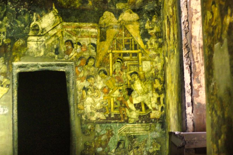 Ajanta Caves; India; Arangabad; cave paintings; uasatish; 3D paintings;