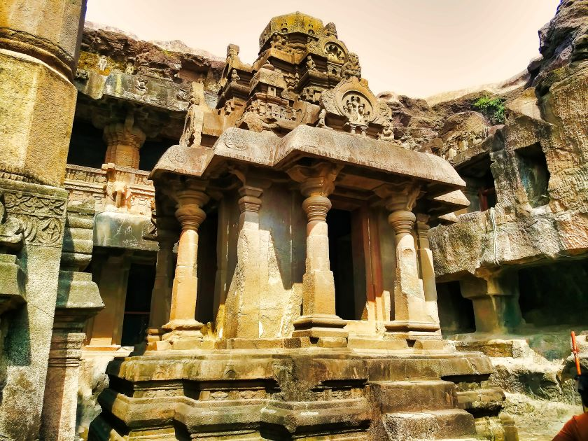 Ellora Caves; Ellora Cave 32; Maharashtra; uasatish; Jain Caves; monolithic shrine of the Tirthankaras;