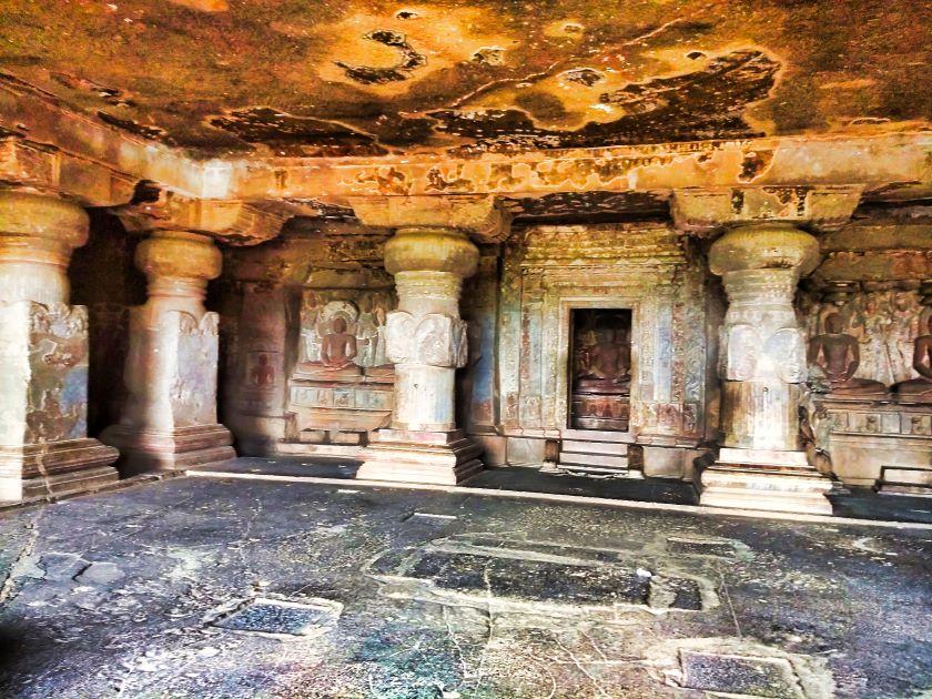 Ellora Caves; Maharashtra; Ellora Cave 32; Sanctum sanctorum; uasatish;