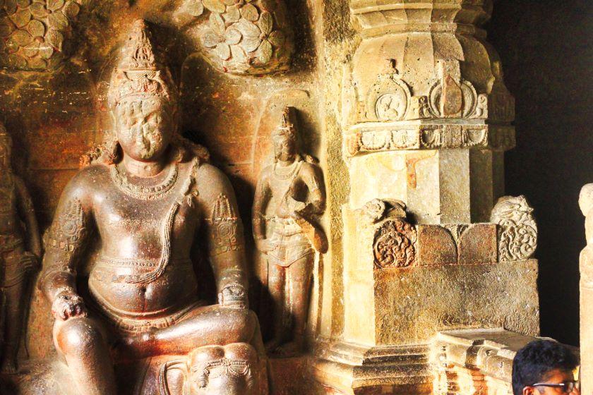 Ellora Caves; Ellora Cave 32; Matanga Yaksha; uasatish; Jain Caves;